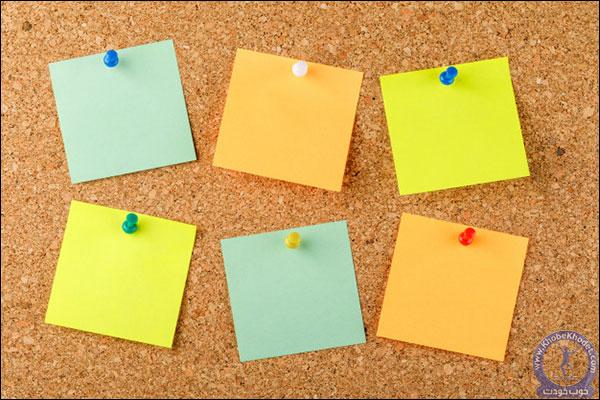 جملات تان را بر روی پنج کارت کوچک بنویسید